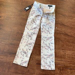 Rag & bone micro floral Ellie jeans size 24 skinny